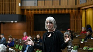 Hajdu rises during Question Period in the House of Commons Dec. 10, 2020 (CP/Justin Tang)