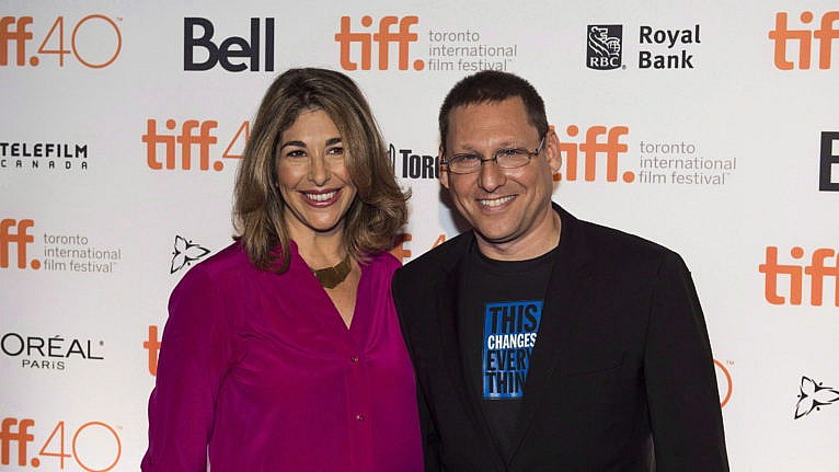 Lewis and Klein at the Toronto International Film Festival on Aug. 5, 2015 (Aaron Vincent Elkaim/CP)