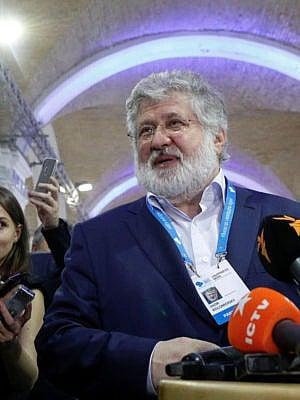 ایور کلومویسکی ، تاجر اوکراینی در حاشیه نشست سالانه استراتژی اروپا یالتا (بله) در کیف ، اوکراین ، 13 سپتامبر 2019 (والنتین اوگرنک / رویترز / علامی) با خبرنگاران صحبت می کند