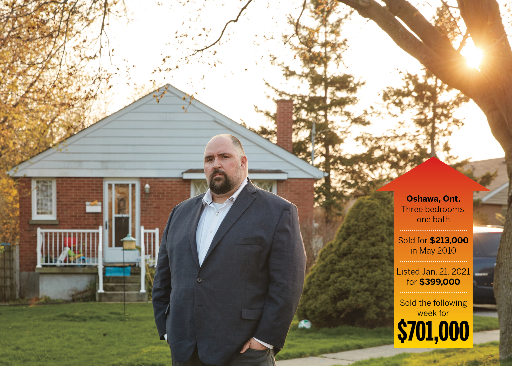 James Haehnel and his wife bid $195,000 above asking on this Oshawa house, only to have it sell for $302,000 over asking; it 'really broke us,' he says (Photograph by Carmen Cheung)