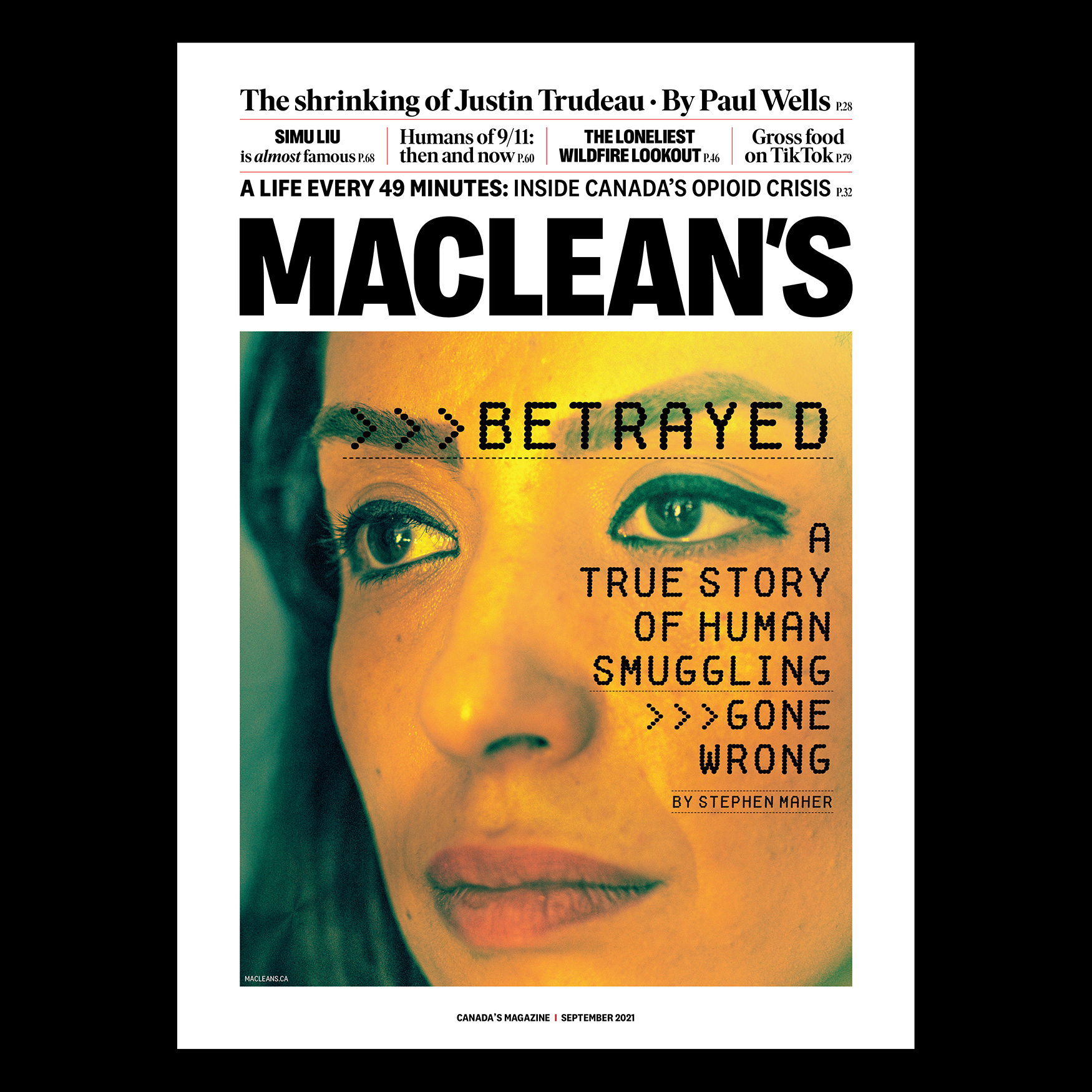 Maclean's September 2021 Cover