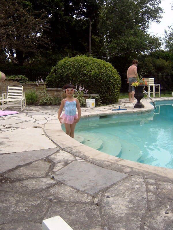 Mac Neil at age 3 in the family pool (Courtesy of Maggie Mac Neil)