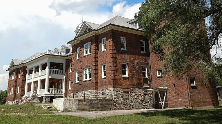 The Mohawk Institute Residential School, referred to by former students as 'the Mush Hole' (Photograph by Alex Jacobs-Blum)