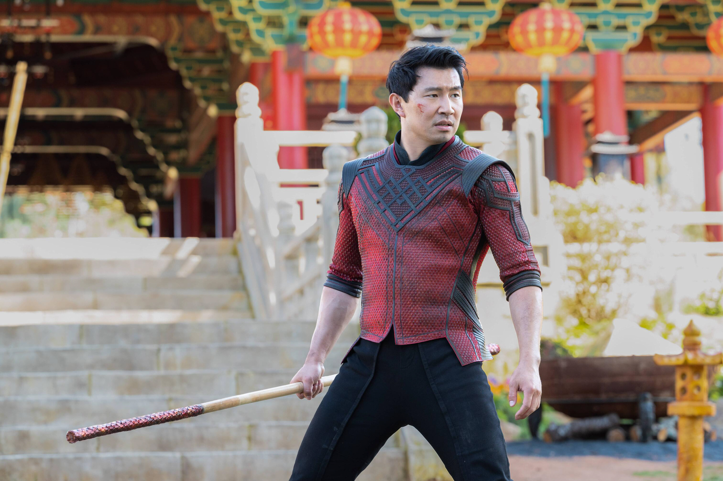 Liu's role as Shang-Chi puts him in the company of Marvel stars like Robert Downey Jr., Scarlett Johansson and all the Chrises (Courtesy of Jasin Boland/Marvel Studios 2021)