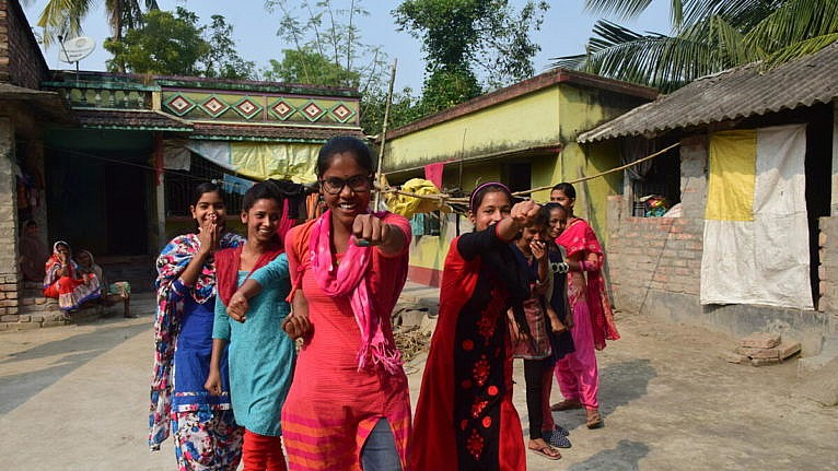 Adolescent girls are taught to protect themselves in India