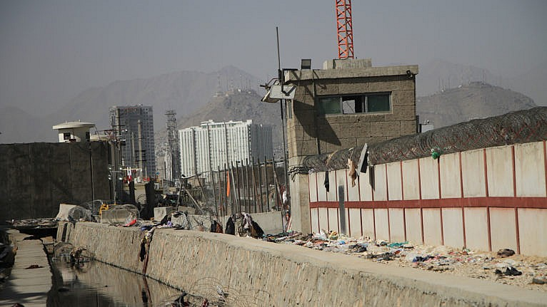 KABUL, Aug. 27, 2021 Photo taken on Aug. 27, 2021 shows the explosion site near the Kabul airport in Afghanistan. The death toll from the Kabul airport attacks on Thursday has reportedly risen to at least 103. (Credit Image: © Saifurahman Safi/Xinhua via ZUMA Press)