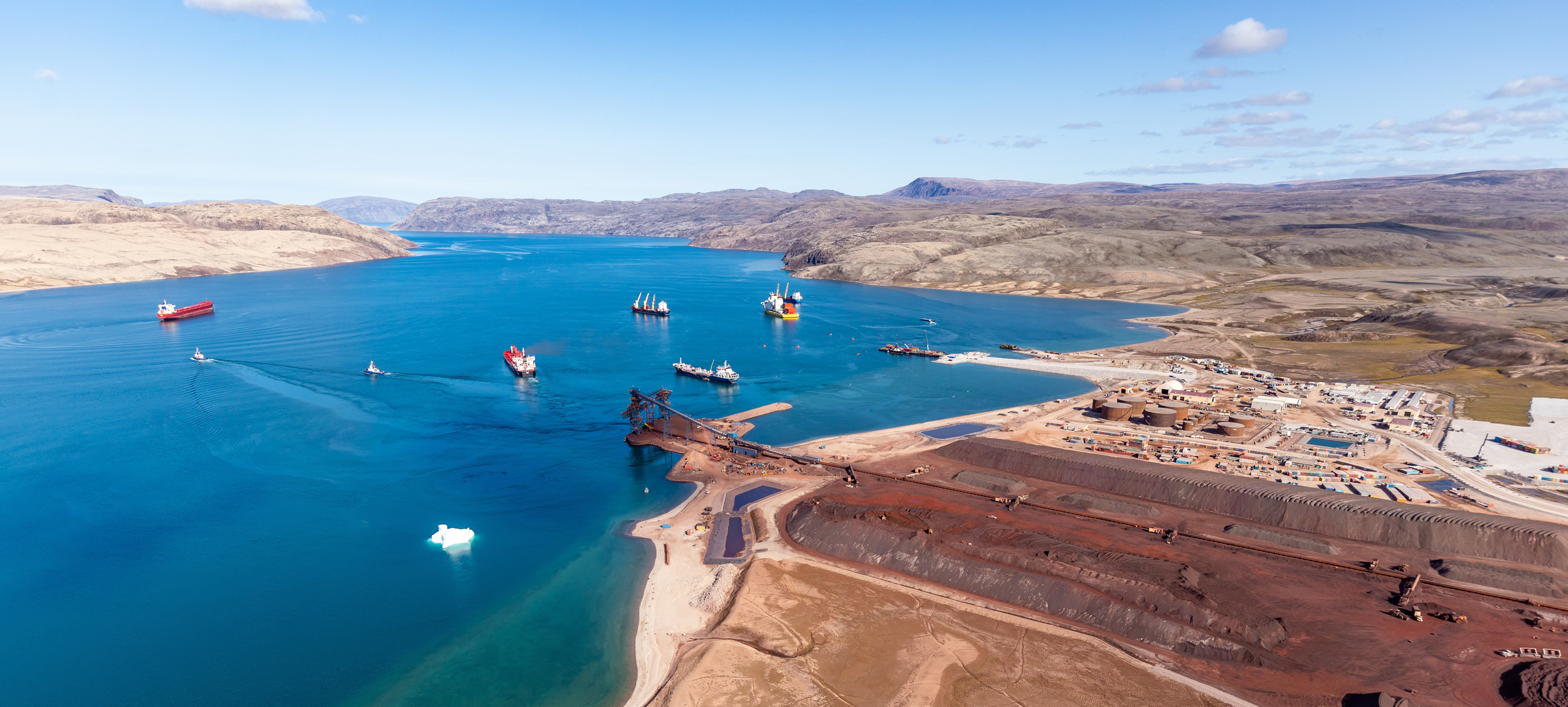 Baffinland's mining port at Milne Inlet, an arm of Tasiujag, has dramatically increased the shipping traffic in the area (Courtesy of Hark Nijjar/Baffinland)