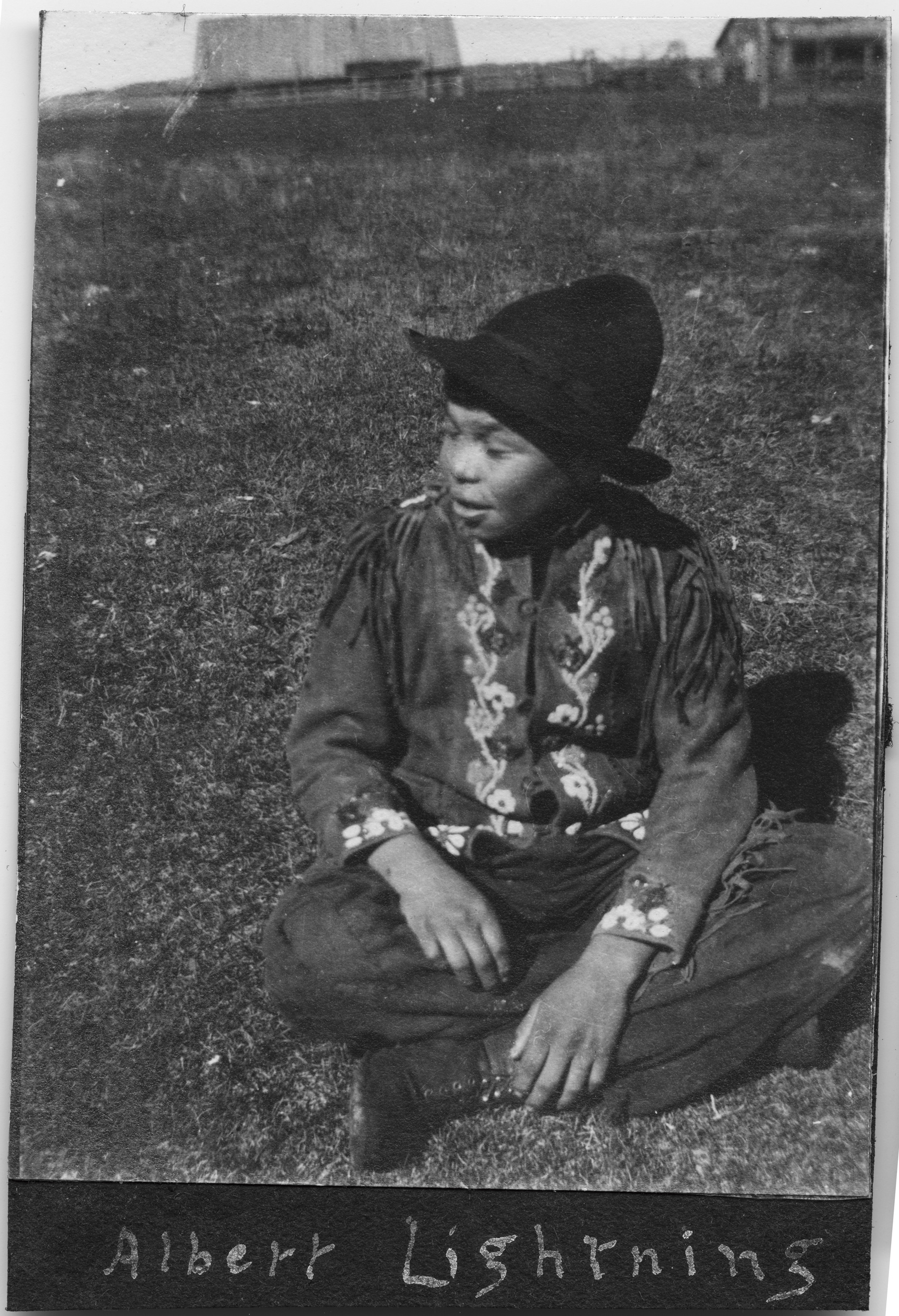 Albert Lightning at the Red Deer Indian Residential School Alberta. (Courtesy of the United Church of Canada Archives)