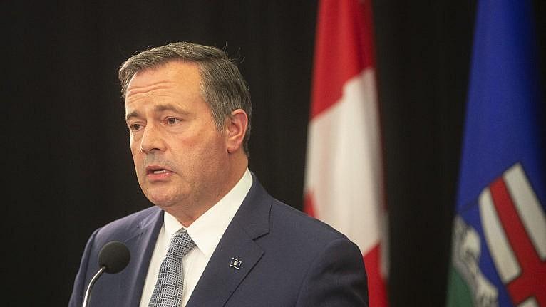 Alberta Premier Jason Kenney in Edmonton on Sept. 21, 2021. (Jason Franson/Canadian Press)