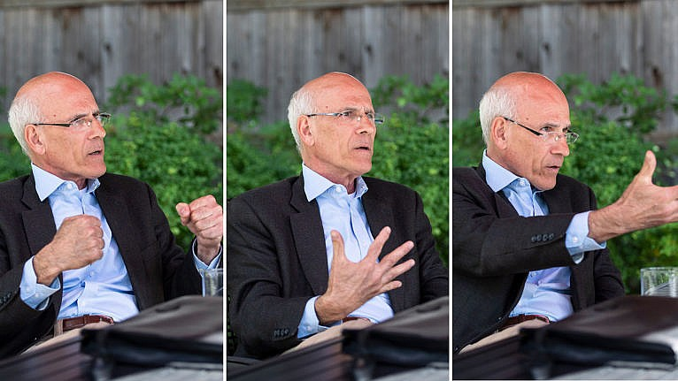 Michael Wernick, former clerk of the Privy Council of Canada, participates in an interview with Maclean's, on Thursday, Sept. 16, 2021. (Photograph by Justin Tang)