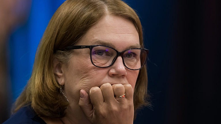 Jane Philpott listens to an address at the B.C. Assembly of First Nations in Vancouver Sept. 19, 2019. (Darryl Dyck/Canadian Press)
